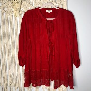 Umgee // Red Lace Cardigan